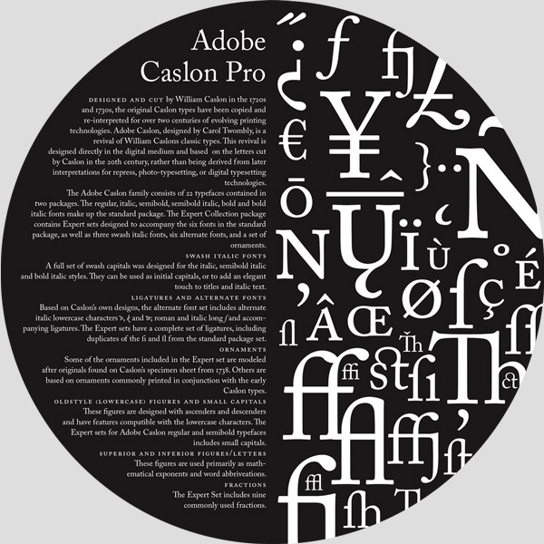 Adobe Caslon Wheel